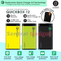 UNEED POWERBANK 12000 mAh QUICK CHARGE 3.0 POWER BANK QUICKBOX 12
