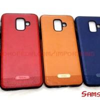 Samsung galaxy A6 2018 Leather Stitching Case