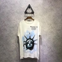 OFFWHITE WHITE LIBERTY TEE 2018 FW (PERFECT VERSION)