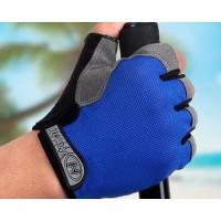 Sarung Tangan Half Finger Sepeda Gym Size M - Blue