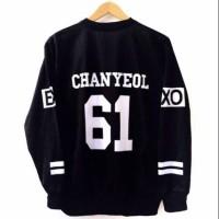 DAMAI FASHION - baju wanita sweater CHANYEOL EXO 61 hitam - murah
