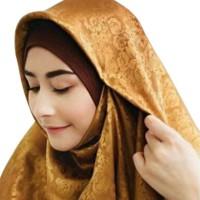 Harga Jilbab Segi Empat Satin Motif DaftarHarga.Pw
