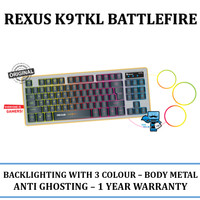 Harga rexus k9tkl k9 tkl battlefire rgb keyboard gaming | WIKIPRICE INDONESIA