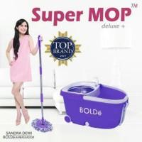 SUPER MOP BOLDE DELUXE + |Roda,dispenser,Stainles,Penarik,drainase|