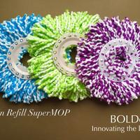 3 (Tiga) Pcs KAIN REFILL ALAT PEL SUPERMOP BOLDE | SUPER MOP