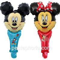 Balon Foil Pentung / Tongkat / Tenis Mickey Mouse / Minnie Mouse