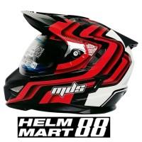 Helm MDS Super Pro pagar 1 Red Fluo supermoto motocross semi cross