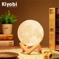 Lampu Tidur 3D Moon Lamp Rechargeable Bed Light with Touch Sensor