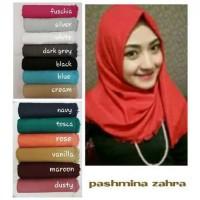 SALE!!! Jilbab Zahra Pashmina Katun Rawis High Quality - Murah