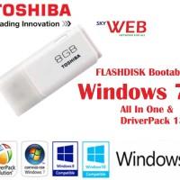 Flashdisk Windows 7 dan Driver Pack