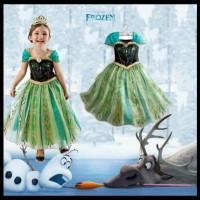 Terlaris! Gaun Anna Frozen Hijau U002F Dress Pesta Anak Impor !!