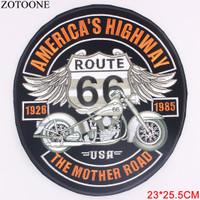Patch Motorcycle Harley Davidson Bordir 66 American Highway