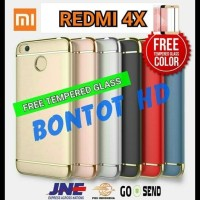 CASING HP - XIAOMI REDMI 4X PRIME HARDCASE BACK CASE + TEMPERED GLASS