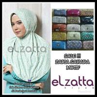 New Sale Bergo Hijab Instan Zaria Sahara Motif Elzatta Original . . .