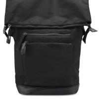 ZALORA 018 Tas Punggung Backpack Pria - Large Zip Detail Nylon - Hitam