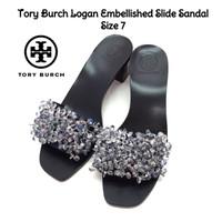 Tory Burch Logan Embellished Slide Sandal