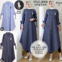 8ddc57f41df Baju Terusan Wanita Muslim Longdress Pollo Jeans Maxy