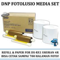 Media Set Refill dan Paper DNP Fotolusio for DS-RX1 Photobooth Printer
