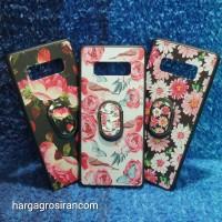 Flower Ring HP Samsung Galaxy Note 8 - Fuze Art Case Bunga Bonus Ring