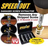 Alat pembuka baut rusak / Screw Extractor Broken Striped Screw Remover