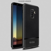LEATHER ARMOR case Samsung A6 - A6 Plus 2018 softcase casing cover tpu
