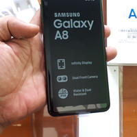 Samsung A530 A8 hitam pemakaian sebulan komplit ori murah