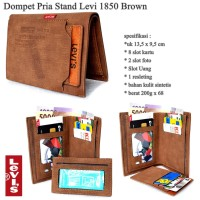 DOMPET PRIA KULIT LEVIS MALE STAND STAR BROWN