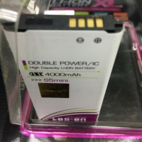 Baterai Log-on 4000Mah Samsung Galaxy S5 mini G800 Double Power