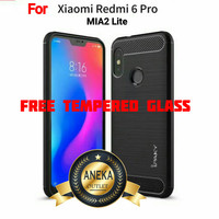 PAKET CASE CASING + TEMPERED GLASS HP XIAOMI REDMI 6 PRO / MIA2 LITE
