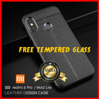 CASE CASING + TEMPERED GLASS HP XIAOMI REDMI 6 PRO / MIA2 MI A2 LITE