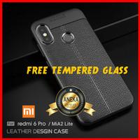 CASE CASING + TEMPERED GLASS HP XIAOMI REDMI 6 PRO / MIA2 MI A2 LITE