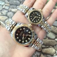 Jam Tangan Couple Rolex Rantai Tanggal Aktif New