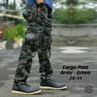 Celana Celana Kargo Panjang Army Hijau Kualitas Premium Unik