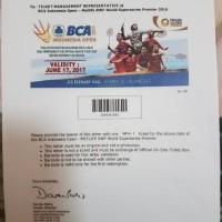 Tiket VIP A Semifinal BCA Indonesia Open 2017 17 Juni 2017