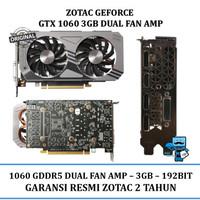 VGA Card Zotac PCIE GTX 1060 3G GDDR5 AMP! (Original Resmi)