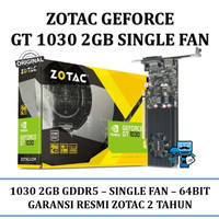 VGA Card Zotac PCIE GT 1030 2GB GDDR5 ZT-P10300A-10L - Original Resmi