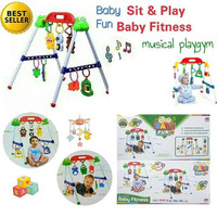 Promo mainan bayi baby musical play gym / musik mainan rattle playgym