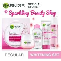 [SET] Garnier Sakura White (Day Cream + Micellar + Foam+ Mask + Serum)