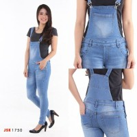 Celana Panjang Overall Skinny Jeans Wanita Wearpack Jumpsuit JSK JEANS