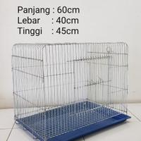 Kandang besi untuk burung, kucing, kelinci, ayam dll Size L