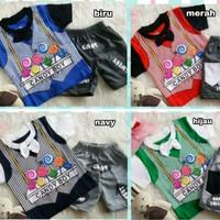 Pakaian Bayi Laki-Laki Baju & Sepatu Setelan Vest Candy Boy / AGC5617