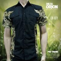 SERAGAM BATIK   Kemeja Batik Pria Kombinasi   Batik Millenial   EX-071