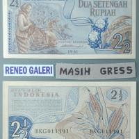 Uang 2,5 1/2 setengah sandang pangan 2 Rupiah 1961*Gress*kertas kuno