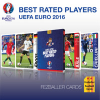 Kartu Bola Fezballer Cards edisi Euro 2016 France - Best Rated Players