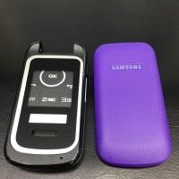 Casing Fullset + Tulang Samsung Lipat E1195 Ungu Tidak termasuk engsel