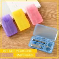 Manicure Pedicure Set Gunting Kuku Korek Telinga Jepit (BOX PLASTIK)