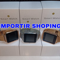 Jam Tangan Hp Smartwatch U11 / Smart watch Z60 Stainless ( Gold )