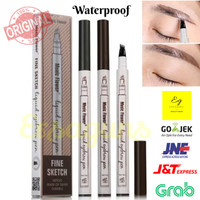 Music Flower 4-Tip Eyebrow Pen / Tattoo Eyebrow/ Pensil Alis ORIGINAL