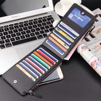 Harga dompet kulit pouch tempat hp uang atm kartu kredit foto organizer | antitipu.com