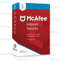 McAfee® Internet Security Software Antivirus 2018(3DEVICES / 1 YEAR)
